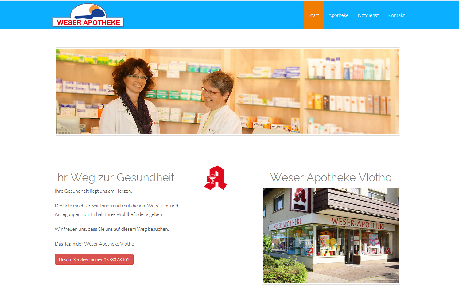 weser-apotheke-vlotho, screendesign, internetdesign, content-management-system, cms, responsiv
