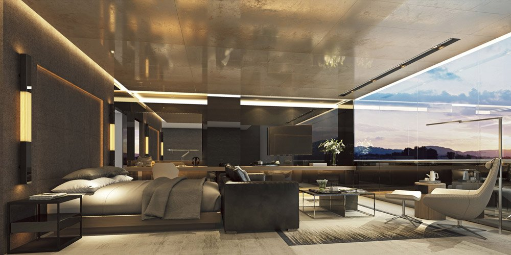 "Penthouse Suite der ""Scenic Eclipse""."