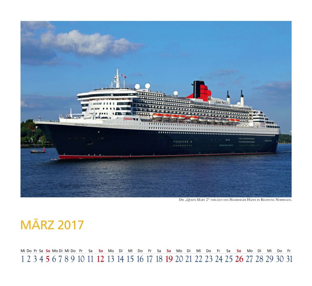 Welcome ABoard Kalender Queen Mary 2