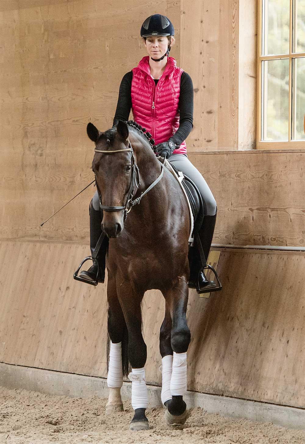 Schenkelweichen, Pferdeausbildung, Anja Beran