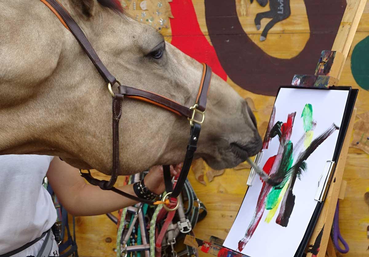 Ds melende Pferd / Pferdekunst