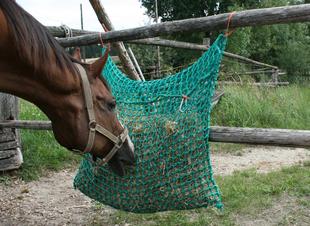 Heunetze, Heusäcke, Pferdespielzeug, Pferdefütterung, Heumenge, Heu